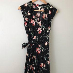 REBECCA TAYLOR: NWT Wrap Midi Dress